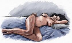 sobre la cama_lienzo